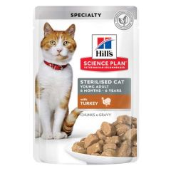 Hill's Science Plan Feline Sterilised Pavo (Sobres)