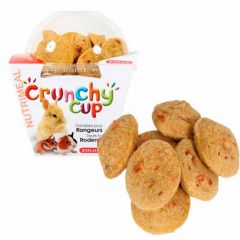 Snack roedores Zolux Crunchy Cup Cenoura (4 botes)