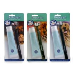 Kit Dental para perros Cepillo + Pasta Petosan